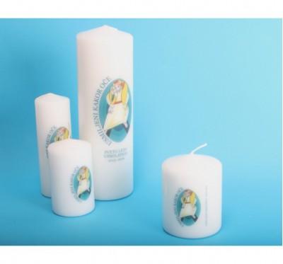 Sveča z logotipom leta usmiljenja - 80/100