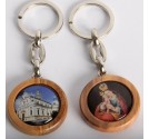 Lesen obesek za ključe z Marijo Pomagaj - okrogel