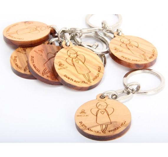 Lesen obesek za ključe z angelom