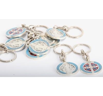 Obesek za ključe s sv. Benediktom